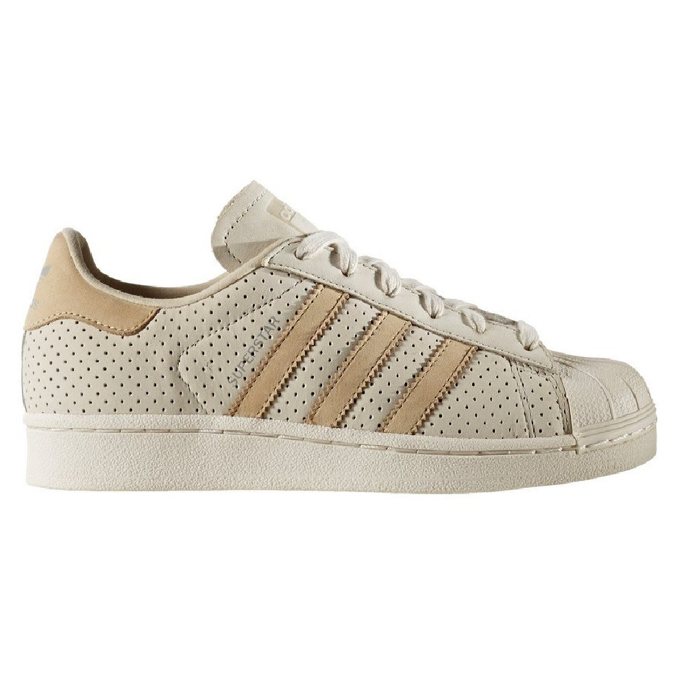 Adidas Superstar Fashion J Clear Brown-Linen Khaki-Chalk White