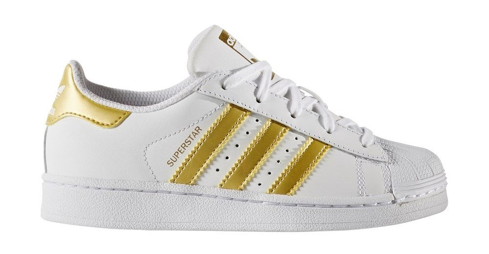 ADIDAS SUPERSTAR WHITE-GOLD