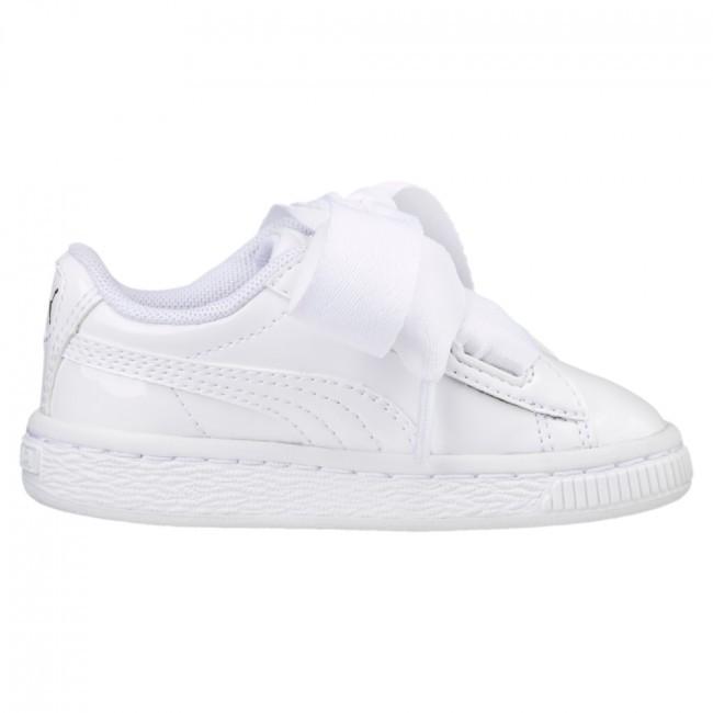 Kinderschoenen Maat 23.Puma Basket Heart White Kinderschoenen