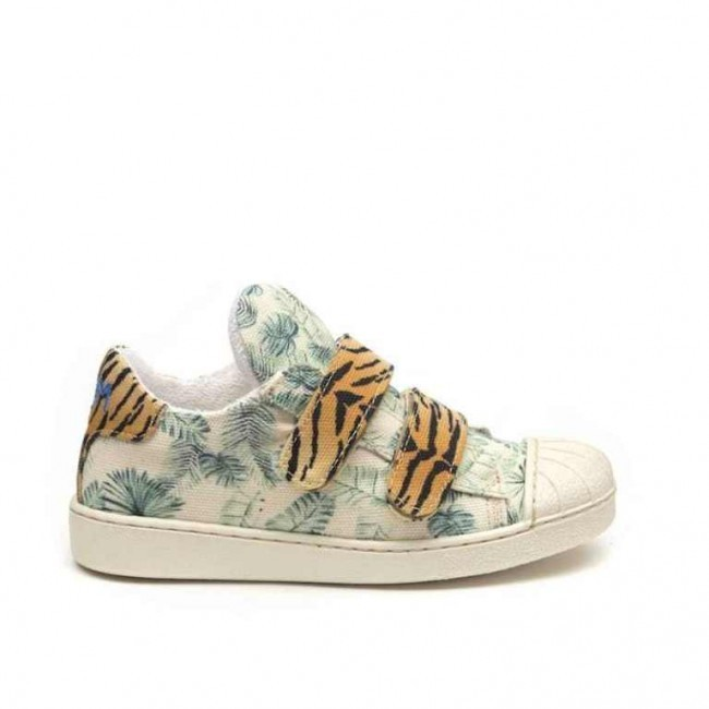 Sneakers Kinderschoenen.Jungle Tiger Sneakers Kinderschoenen
