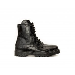BIKER BOOT BLACK CROCO
