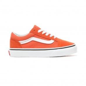 effen rode vans schoenen