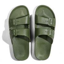 Waterbestendige, milieuvriendelijke Freedom Moses Cactus slippers groen voor kinderen, jongens, meisjes en dames