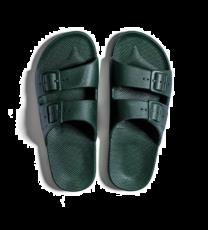 Waterbestendige, milieuvriendelijke Freedom Moses slippers Amazonia model, donkergroen, maat 24/25 t/m 46/47 - bovenaanzicht 2