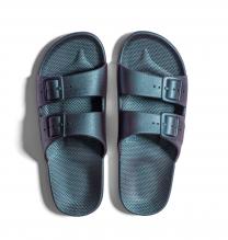 Waterbestendige, milieuvriendelijke Freedom Moses Twilight slippers Metallic blauw