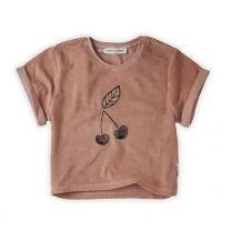 Sproet & Sprout t-shirt terry badstof roze cherry www.littlelegends.nl