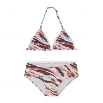 PAINTED ZEBRA TRIANGLE BIKINI