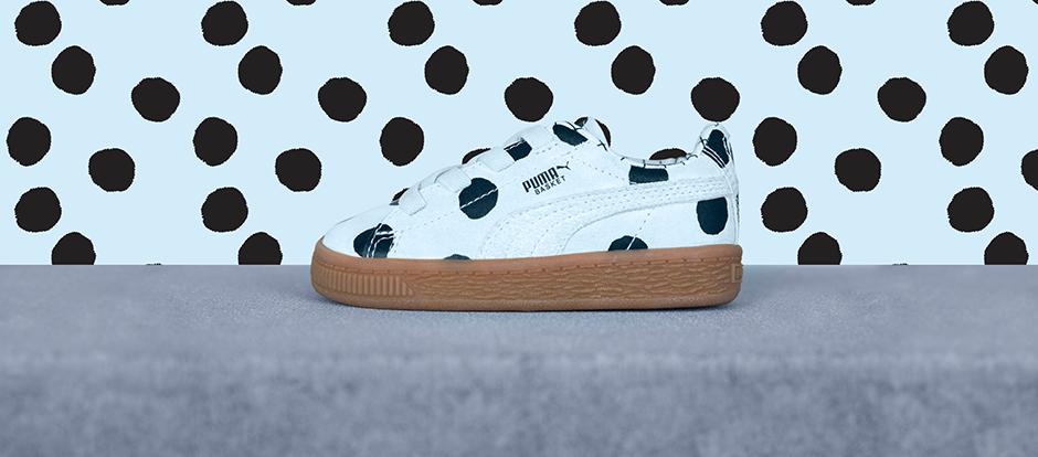 Puma basket stippen schoen. Sneakers voor kinderen - littlelegends.nl